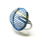 Stacey Bentley Ring- Blue Enamel and Gold