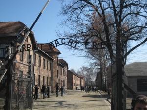 Arbeit Macht Frei, entrance to Auschwitz
