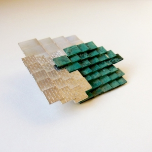 Mariko Sumioka Mosaic Roof Brooch