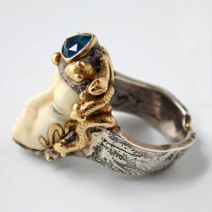 David Hensel sculptural ring 1998