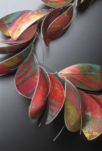 Large Dyed Aluminium Necklace by Jane Adam