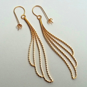 Gold 'Cloud' Earrings by Clara Breen