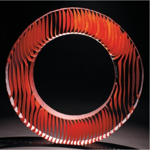 Ring of Fire. Glass Sculpture by Colin Reid