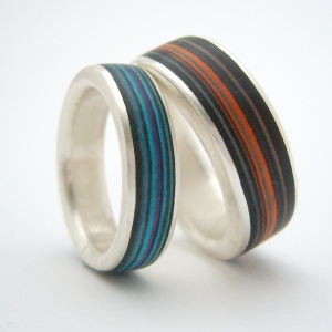 Paper and silver rings by Clara Breen
