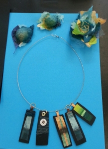 Example of jewellery made by some of Clara's students