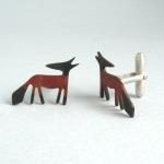 Copper Fox cufflinks by Becky Crow