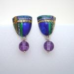 Tartan Inspired Drop Earrings