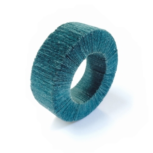 Mid 90's: Angela O'Kelly. Bangle - hand-dyed paper